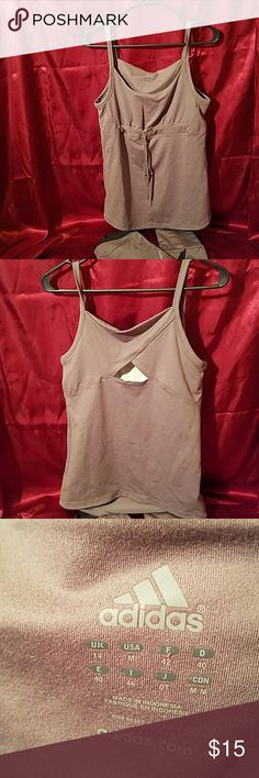 Adidas athletic top Adidas top, built-in bra, taupe, size M, *matching pant adidas Tops Tank Tops