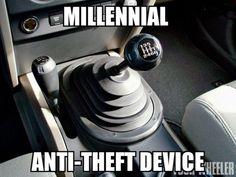 Millenial Anti-Theft Device.