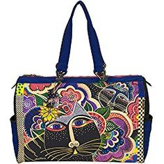 Laurel Burch Travel Bag, 21 by 8 by 15-Inch, Carlotta's Cats