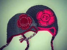 Firefighter/ Fire Department Crochet Earflap Hat by AndreaDanielle, $20.00