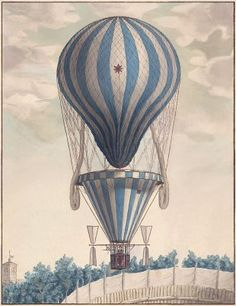 Dirigible. hot air balloon