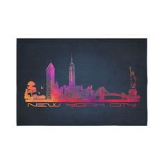 New York City skyline 4 Cotton Linen Wall Tapestry 90