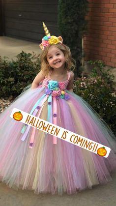 1st Birthday Party For Girls, Birthday Girl Dress, Birthday Tutu, Fourth Birthday, Baby Party, Unicorn Birthday, Fairy Costume Kids, Old Halloween Costumes, Halloween Ideas