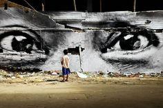 JR, guerrilla street art (Kiberia neighborhood, Nairobi, Kenya)