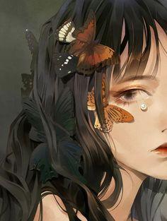 Character Aesthetic, Aesthetic Art, Aesthetic Anime, Character Art, Anime Angel Girl, Anime Art Girl, Pretty Art, Cute Art, Scary Art