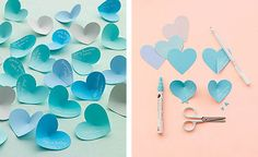 The bright idea Fun Crafts, Crafts For Kids, Paper Hearts, 3d Hearts, Diy Paper, Diys, Crafty, Creative, How To Make