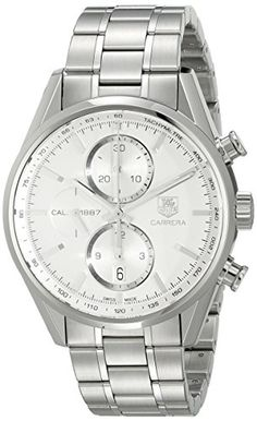 Great gift idea TAG Heuer Men's CAR2111.BA0720 Carrera Silver Dial Chronograph Steel Watch