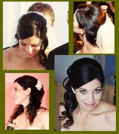 Half Up with Curls on the bottom :  wedding half up 1 hairstyle flower updo wedding twist Side Swept Hairstyle