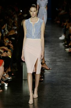 We're thinking Gingham for Spring 2015. Check out the Altuzarra approach.