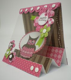 Acetate front step Happy Birthday card by Lisa Baker