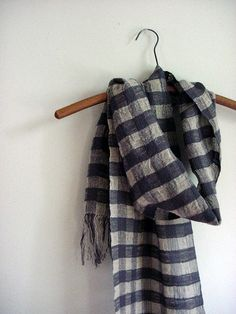 long linen  cotton scarf by Avalanche Looms, via Flickr