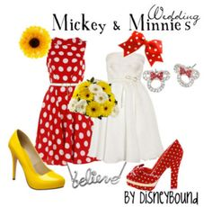 Seriously, love everything about this! Bright colors, polka dots, bows, too cute.   A little disney inspiration for my wardrobe.