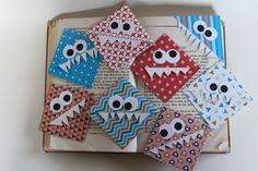 Freche Monsterecken als Lesezeichen Monster, Advent Calendar, Holiday Decor, Home Decor, Bookmarks, Word Reading, Decoration Home, Room Decor, Interior Design