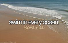 swim in every ocean