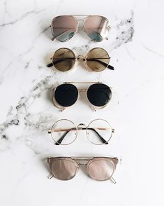 EyeWear Varieties from mirror to pink, black, etc Accessories Sunglasses Ray Ban Sunglasses, Cat Eye Sunglasses, Round Sunglasses, Summer Sunglasses, Retro Sunglasses, Street Style Inspiration, Mode Inspiration, Sunnies, Lunette Style