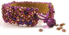 Embellished Peyote Cuff O beads