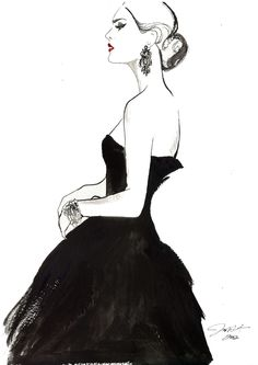 Vintage Glamour by Jessica Durrant #watercolor #fashion #illustration