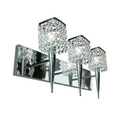 BAZZ Glam Sephora 3-Light Brushed Chrome Wall Sconce-M3023DC at The Home Depot- BATHRROM
