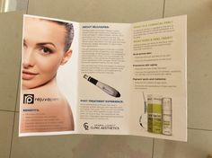 My new brochure for Clinic Aesthetics . Brochure Ideas, Clinic, Aesthetics, Personalized Items