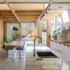 The client wanted to extend their 1950's terraced house to create a more usable kitchen and dining area with a better connection to the rear garden. Nimtim proposed an addition formed with a series…