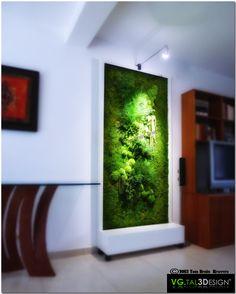 """Module """"Nature"""" (sans entretien)    http://www.mur-vegetal-interieur.fr/"""