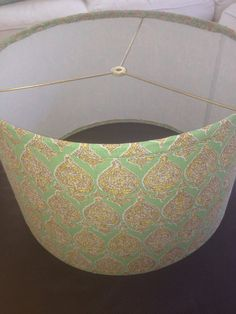 Large modern drum pendant shade in Sari in by OpenHouseBeachDesign, $255.00