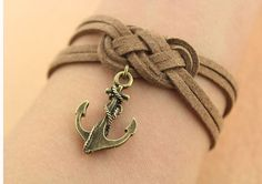 personality infinity knot braceletanchor by findinggift on Etsy