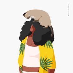 16.08.10 갈수록 커지는 덩치... 전시준비 #daily #illust #illustration #graphic #summergirl #afro #siammesecat #일러스트레이션 #데일리 #일러스트