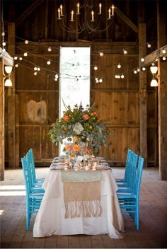 color pop chairs. The Barn at Twin Oaks Ranch