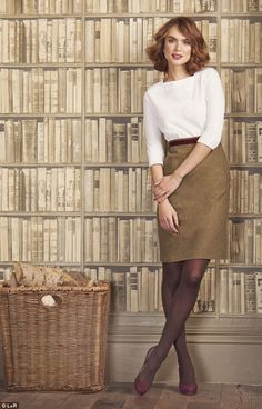 Skirt with tights  winter work wear