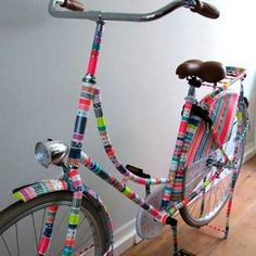 Colorful Decorating Ideas for Bike Frames, Crafts for Kids and Adults