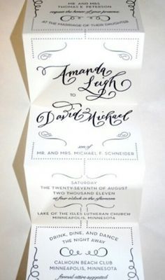 Invite - unfold - detachable rsvp