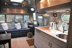 Airstream Camper Interior Modern Style <---- now this is what I call 'GLAMping!!'