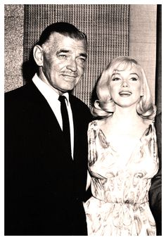 An older, wiser, yet no less handsome Clark Gable with Marilyn.