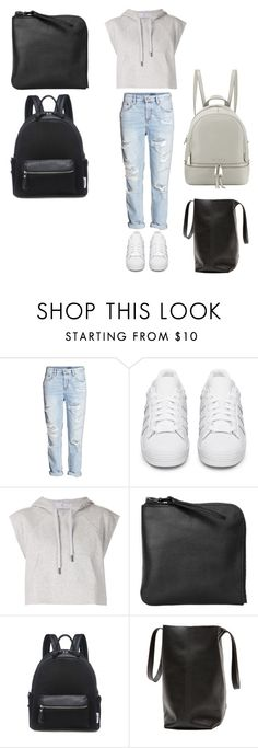 """""""Blå mandag"""" by jenlillepus ❤ liked on Polyvore featuring H&M, adidas Originals, adidas, Xenab Lone and MICHAEL Michael Kors"""