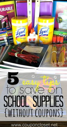 Are you buying school supplies this year? Wanting to save on your back to school list? Here are 5 tips to help you save on back to school deals by shopping the back to schools sales and shopping strategically.