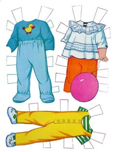 Baby paper dolls 40