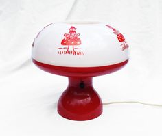Vintage Red Pixie or Elf Children's Lamp for by zincfineart, $58.00