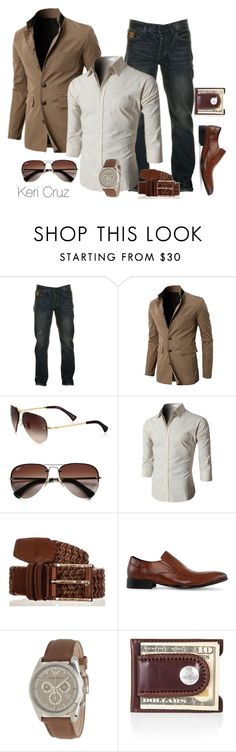 """""""Stylish"""" by keri-cruz ❤ liked on Polyvore featuring Two Stoned, Ray-Ban, Doublju, Kenneth Cole and Emporio Armani"""