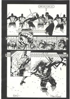 MIKE MIGNOLA - IRONWOLF page 60 Comic Art