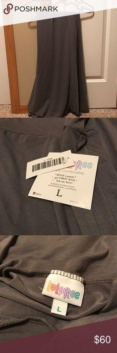 LuLaRoe Maxi Skirt LuLaRoe Solid Gray Maxi Skirt LuLaRoe Skirts Maxi