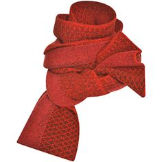 Prabal Gurung Jacquard Intarsia Wool Scarf (€815) ❤ liked on Polyvore featuring accessories, scarves, wool shawl, orange scarves, red scarves, prabal gurung and wool scarves