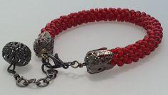 Beaded kumihimo bracelet, beaded bracelet, bead weave bracelet, Mother's Day gift, Birthday gift, Gift for women, anniversary gift by CreationsByJolanta on Etsy