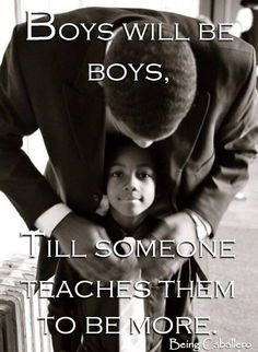 This image was powerful because it speaks to the cycle of young black boys growing into emancipated boys because of the lack of a positive strong male figure in their lives.