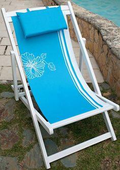 Blue Praia Beach Chair Set of 2