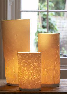 Liz Emtage Paper & Porcelain Clay Lamps