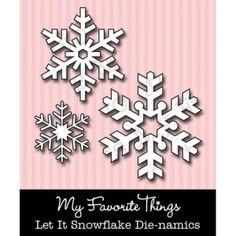 New My Favourite Things Christmas Snowflakes Die-namics Dies Set of 3