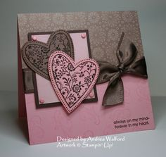 I always love pink and brown or taupe together. This is pretty.