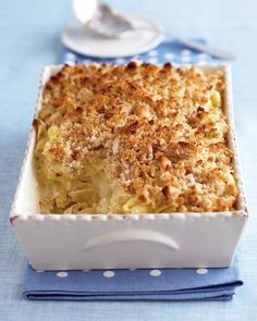 Macaroni and Three Cheeses Recipe -- made with sharp white cheddar, Havarti, and Muenster