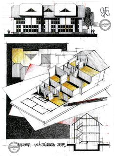 Architecture class compilation on behance architect эскиз Architecture Concept Diagram, Revit Architecture, Architecture Drawings, Architecture Portfolio, Art Clipart, Image Clipart, Building Sketch, Drawing Sketches, Plan Drawing